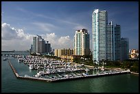 Miami Beach marina and high-rises. Florida, USA ( color)