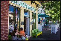 Key Line Pie Factory with customers. Key West, Florida, USA ( color)