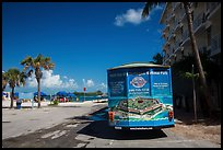 Truck with ad for Dry Tortugas tour. Key West, Florida, USA