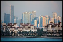 Miami Waterfront and high-rises at sunrise. Florida, USA ( color)