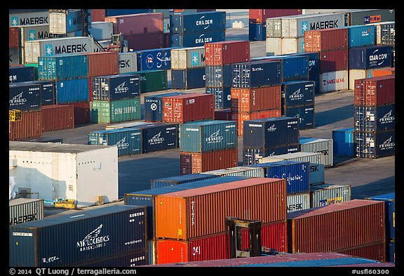 Shipping containers, Miami. Florida, USA (color)