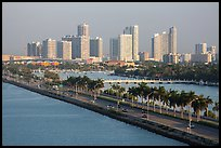 Causeway and Miami skyline. Florida, USA ( color)