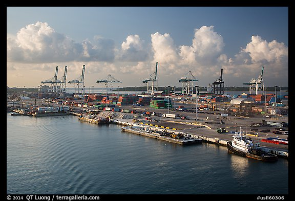 Seaport. Florida, USA (color)