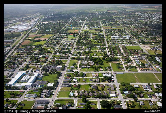 Aerial view of Homestead. Florida, USA (color)