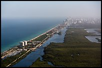 Aerial view of Fort Lauderdale Coast. Florida, USA ( color)