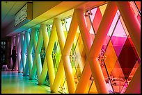 Multicolored windows, Miami International Airport, Miami. Florida, USA ( color)
