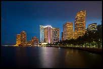 Brickell Skyline at night from Bayfront Park, Miami. Florida, USA ( color)