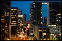 Brickell Avenue and downtown at night, Miami. Florida, USA ( color)