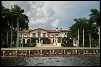 Mansion with waterfront. Coral Gables, Florida, USA ( color)