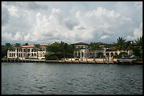 Waterfront mansions. Coral Gables, Florida, USA ( color)