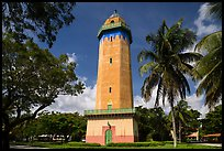 Alhambra Water Tower and trees. Coral Gables, Florida, USA ( color)