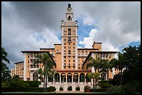 Miami Biltmore Hotel with clouds. Coral Gables, Florida, USA ( color)