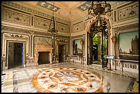 Lobby, Vizcaya Museum, Coconut Grove, Miami. Florida, USA ( color)