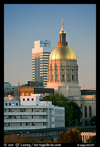 Georgia Capitol. Atlanta, Georgia, USA (color)