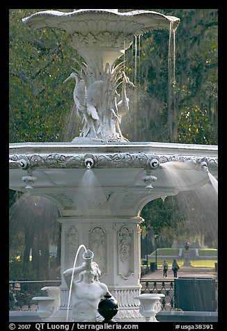 Forsyth Park Fountain. Savannah, Georgia, USA