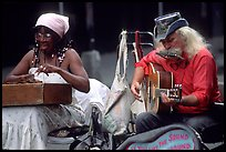 Street musicians, French Quarter. New Orleans, Louisiana, USA (color)