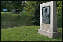 Monument, Union position markers, and gun, Vicksburg National Military Park. Vicksburg, Mississippi, USA (color)