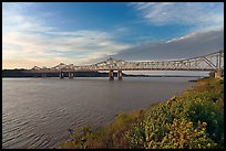 Brige of the Mississippi River, early morning. Natchez, Mississippi, USA ( color)