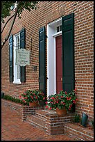 Governor Holmes brick house. Natchez, Mississippi, USA (color)
