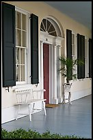 Porch of Griffith-McComas house. Natchez, Mississippi, USA