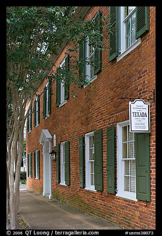 Texada, a red brick house built in 1792. Natchez, Mississippi, USA (color)