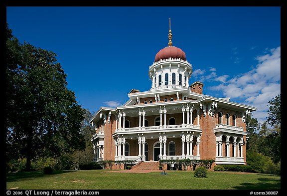 Longwood, an unfinished mansion with an octogonal shape. Natchez, Mississippi, USA (color)