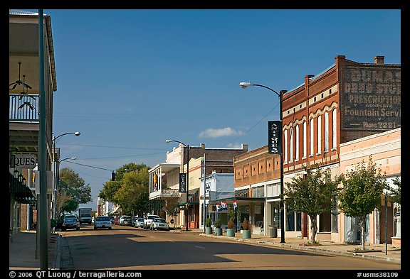 Commercial street. Natchez, Mississippi, USA (color)