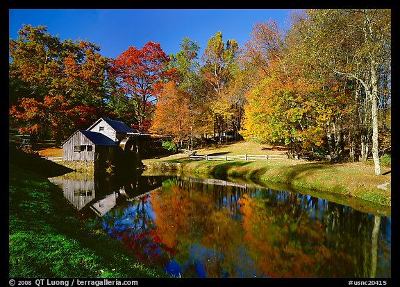 Mabry Mill, Blue Ridge Parkway. USA (color)
