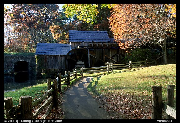 Mabry Mill, Blue Ridge Parkway. Virginia, USA (color)