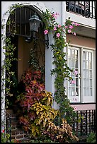 Flowered home entrance. Charleston, South Carolina, USA (color)