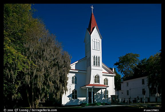 Tabernacle Baptist Church. Beaufort, South Carolina, USA (color)