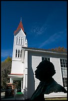 Robert Smalls bust and Tabernacle Baptist Church. Beaufort, South Carolina, USA