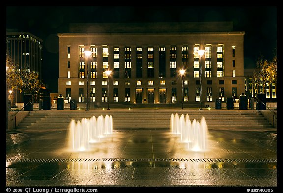 Courthouse and city hall by night. Nashville, Tennessee, USA