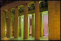 Columns of War memorial by night. Nashville, Tennessee, USA ( color)