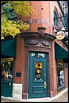 Corner entrance in brick building, Hard Rock Cafe. Nashville, Tennessee, USA ( color)