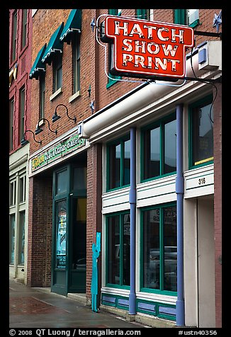 Hatch Show print poster print shop. Nashville, Tennessee, USA (color)