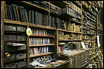 Bookshelves, Hatch Show print. Nashville, Tennessee, USA ( color)