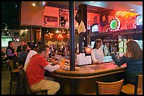 Inside a Beale Street bar. Memphis, Tennessee, USA