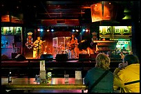 Live musical performance in Beale Street bar. Memphis, Tennessee, USA (color)