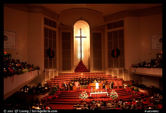 Gospel mass in Mississipi Boulevard Christian Church. Memphis, Tennessee, USA (color)