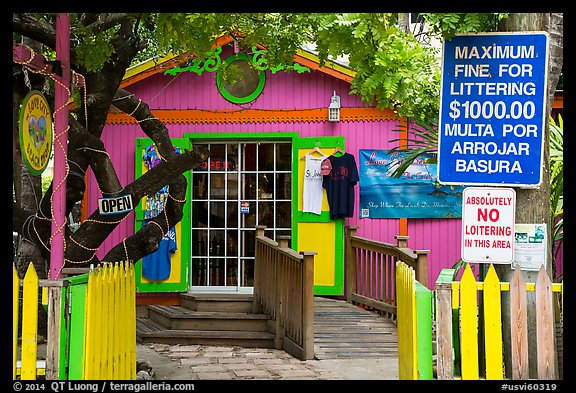 Colorful store, Cruz Bay. Saint John, US Virgin Islands (color)