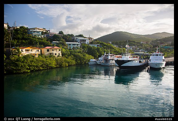 Ferry harbor, Cruz Bay. Saint John, US Virgin Islands (color)