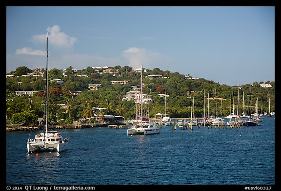Red Hook harbor. Saint Thomas, US Virgin Islands (color)