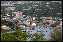 Frenchtown from above. Saint Thomas, US Virgin Islands ( color)