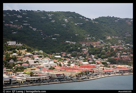 Fort Christian, Charlotte Amalie. Saint Thomas, US Virgin Islands (color)