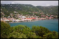 Charlotte Amalie seen from Hassel Island. Saint Thomas, US Virgin Islands ( color)