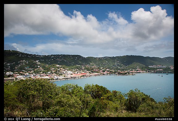 Charlotte Amalie harbor seen from Hassel Island. Saint Thomas, US Virgin Islands (color)