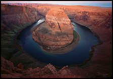 Horseshoe Bend of the Colorado River near Page. USA ( color)