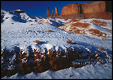Snow on the floor, with Three Sisters in the background. USA ( color)
