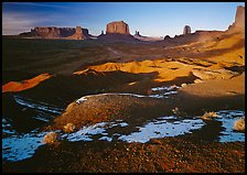 View from Ford point, late afternoon. Monument Valley Tribal Park, Navajo Nation, Arizona and Utah, USA ( color)